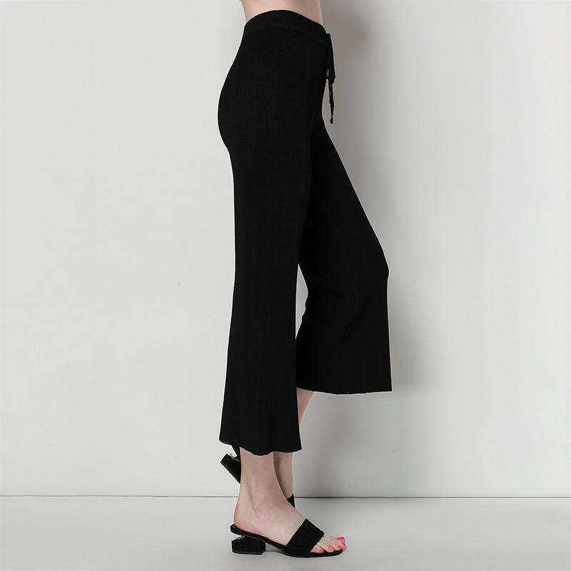 2019 OL temperament European and American women wide leg pants thin casual pants spring and summer micro flare pants mujer 16O6