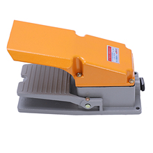 Lt4 pé interruptor de alumínio caso pedal treadle para máquina ferramenta controle prata contato
