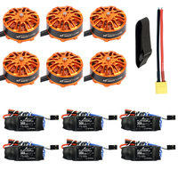 DIY 6 axle Quadcopter Motor Combo 6pcs Platinum 30A ESC/ 6pcs 3508 700kv Motor / XT60 Connector/Fastening Tape