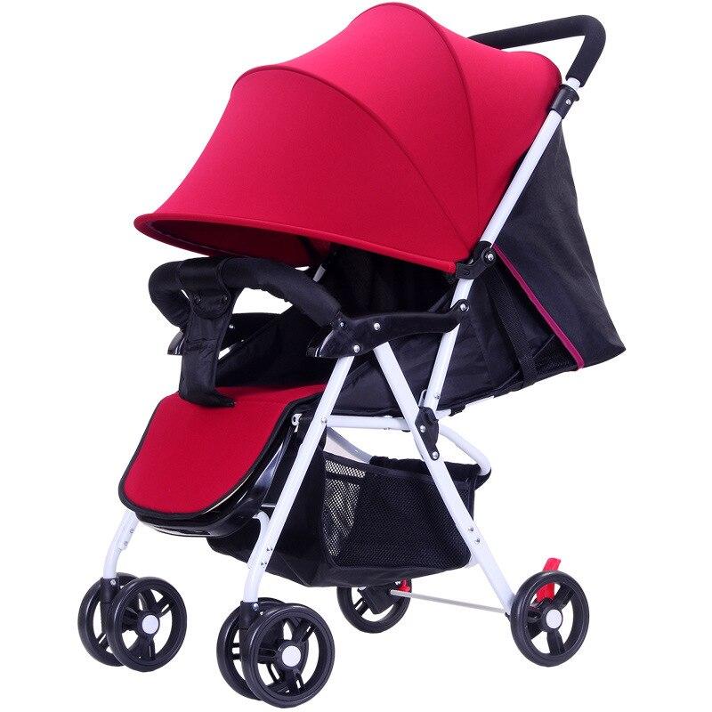5.5 ultra-léger bébé poussette haut paysage à quatre roues chariot pliable Portable poussette voyage landau pour les nouveau-nés enfants
