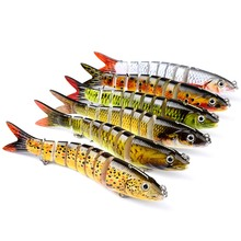 Preasle 1Pcs Fishing Bait 13.28cm Hard Sink Tackle Flexible Artificial Multi Jointed 19g Adult Plastic