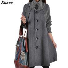 Xnxee Long Female Jacket Overcoat Cloak Windbreaker Loose Winter Wool Coat Women Autumn Manteau Femme Hiver Cape Warm Tweed