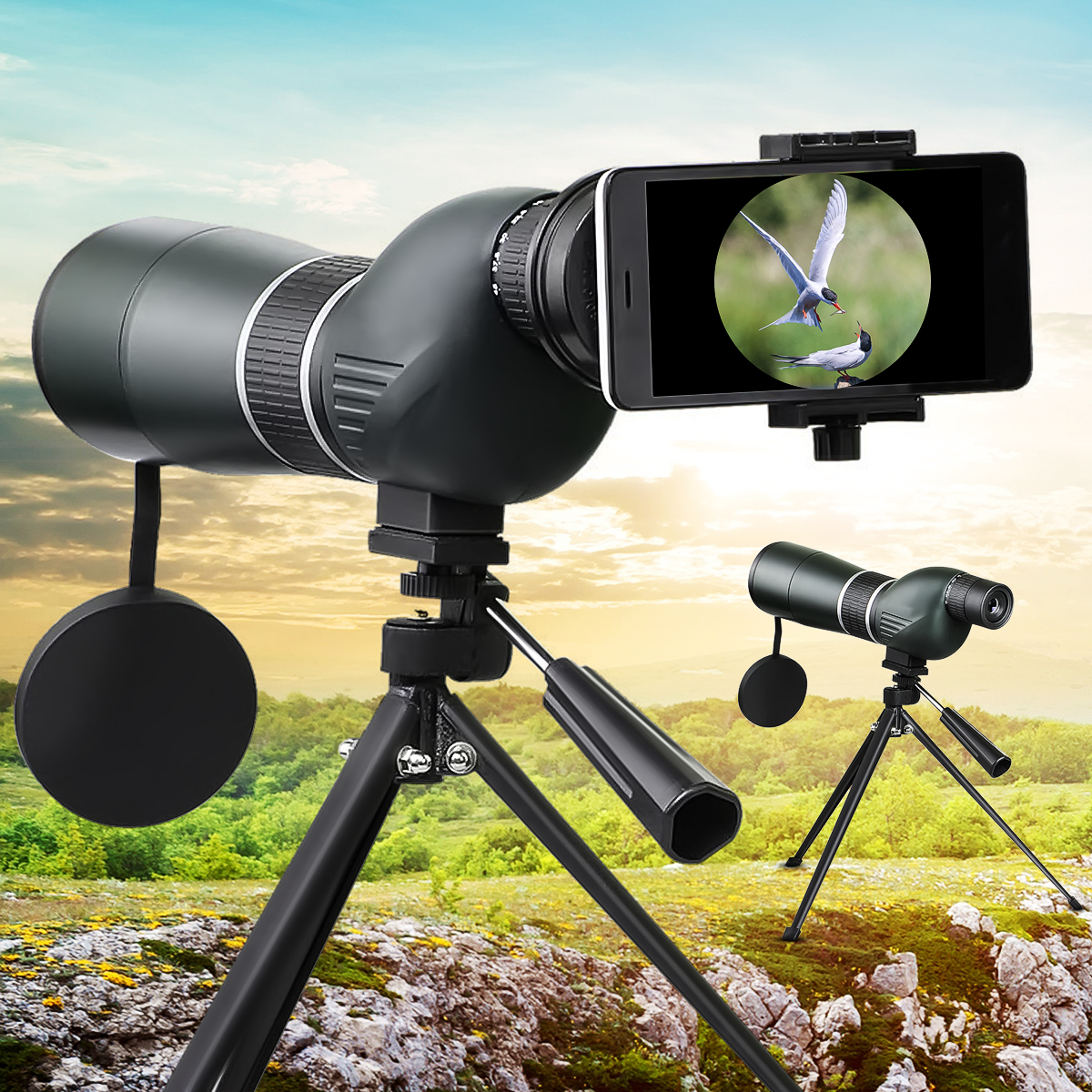 45X to 15X 60S HD Powerful Binoculars Great Handheld Telescope Night Vision Military HD Professional Hunting 60mm 15x magnification hd telescope w glimmer night vision black
