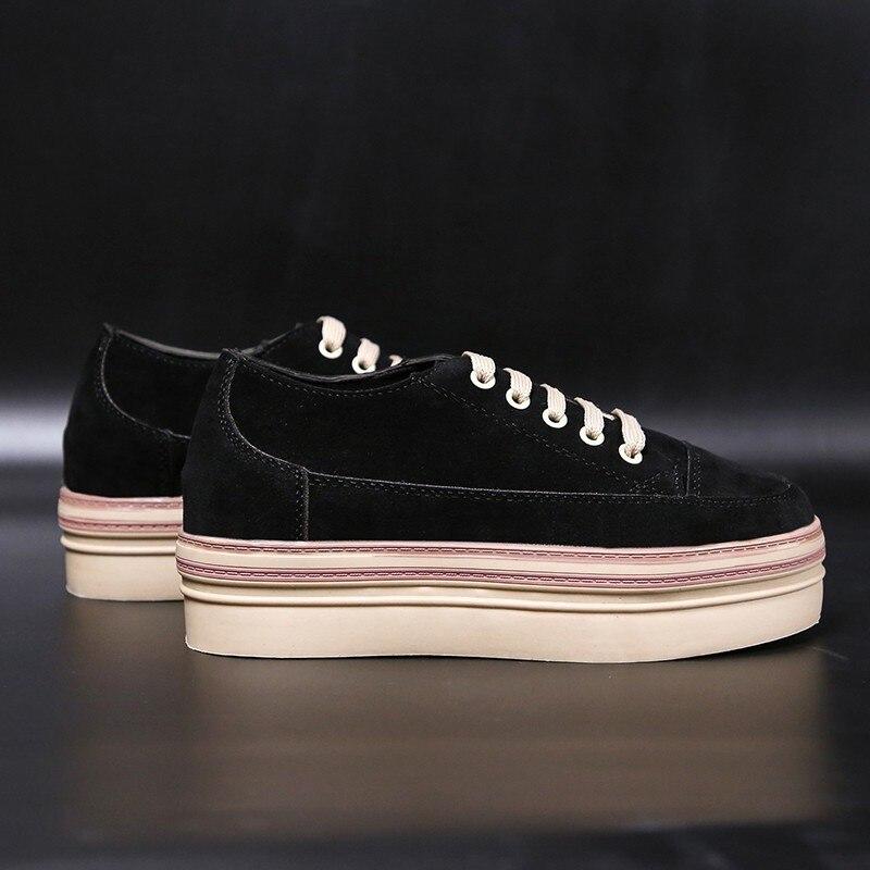 apricot Chaussures Black Simple Automne Croissante Sur Cuir Daim En Nouveau Plate Femmes Appartements Des Dames forme Souliers Glissement 2018 STqYUwS