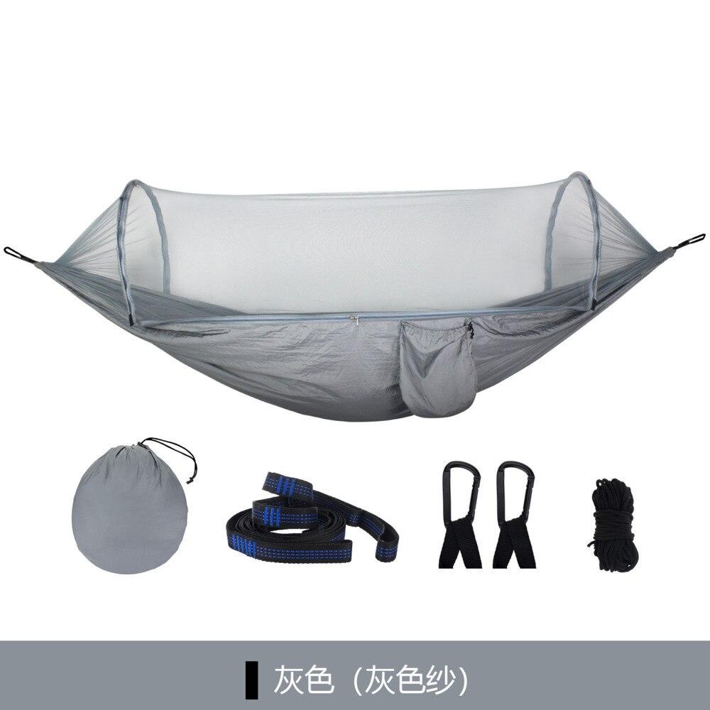2019 nouvelle vitesse d'été ouvert moustiquaire hamac arbre Simple tente Parachute tissu Anti-moustique balançoire hamac