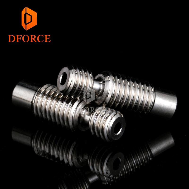 high quality V6 titanium alloy heat break TC4 for E3D V6 HOTEND heater block 1.75MM Filament Remote Feeding Tube super smooth