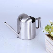 Stainless Steel Watering Can Long Mouth Spout Garden Green Plants Flower Cans Sprinkling Pot Household Tool