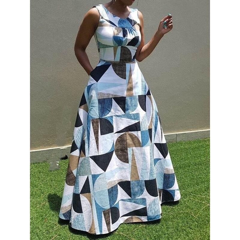 Sisjuly женское Макси платье цвет блок белый без рукавов Геометрическая сексуальная открытая спина элегантная длинная длина паркета платья