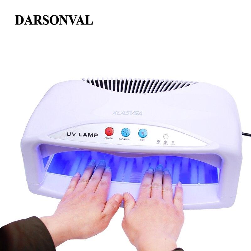 2 mains 54 W UV lampe sèche-ongles avec ventilateur et minuterie Machine électrique pour le durcissement des ongles Gel Art outil lampe UV pour les ongles