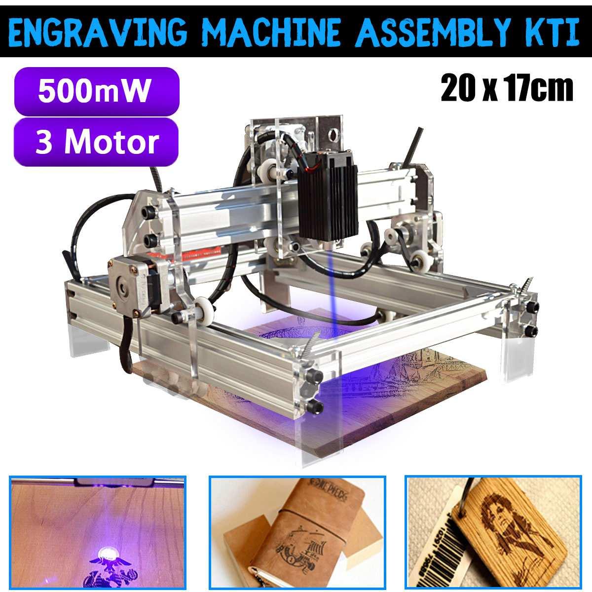 500 mw bureau gravure Laser graveur Machine Kit bricolage Cutter imprimante 20x17 cm fraiseuse bois routeur