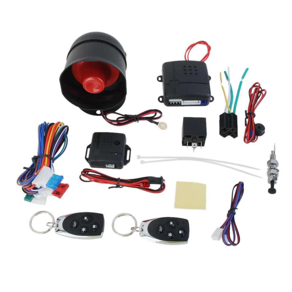 1 Set Car Unidirectional Universal Alarm Vehicle System Prot