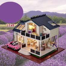 1/24 DIY Миниатюрный Прованс вилла кукольный домик наборы с мебель Декор модель детский подарок
