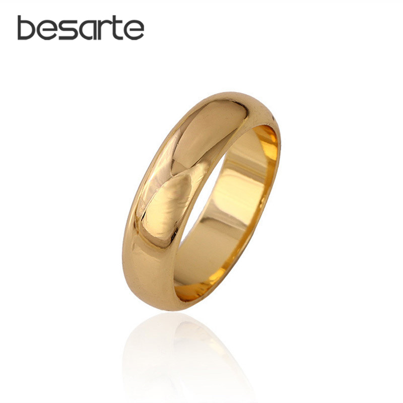 9a470532e 6PCS Lot Gold Wedding Rings for Women Men Jewelry Alliance Anel Ouro  Casamento Bague Mariage Aneis Alianca Anelli Rigen R0131