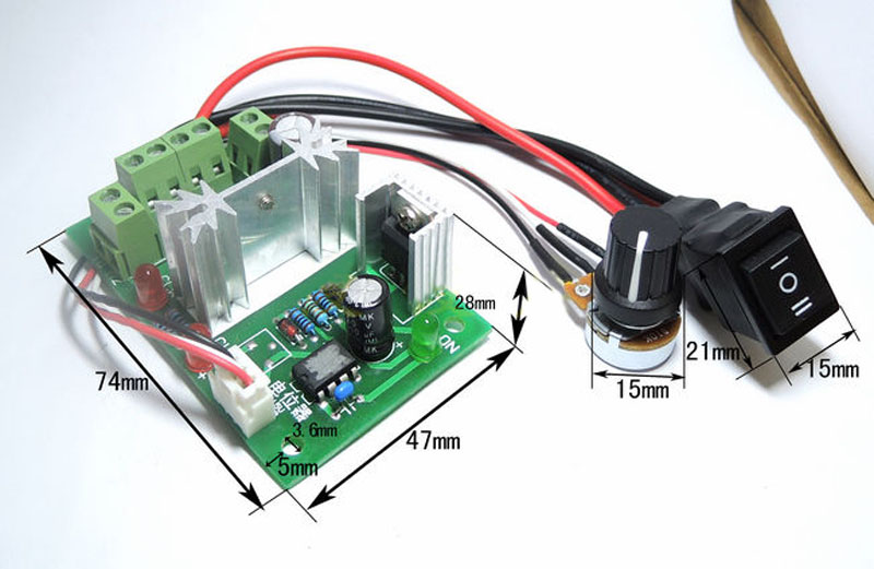 New Hot DN Reversible 6V-30V 6A Pulse Width PWM DC Motor Speed Controller GovernorNew Hot DN Reversible 6V-30V 6A Pulse Width PWM DC Motor Speed Controller Governor