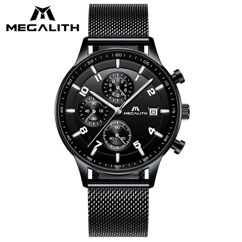 MEGALITH Mens Fashion Watch Casual Chronograph Sport Military Wristwatch Waterproof Date Watches For Men Montre HommeMEGALITH Mens Fashion Watch Casual Chronograph Sport Military Wristwatch Waterproof Date Watches For Men Montre Homme