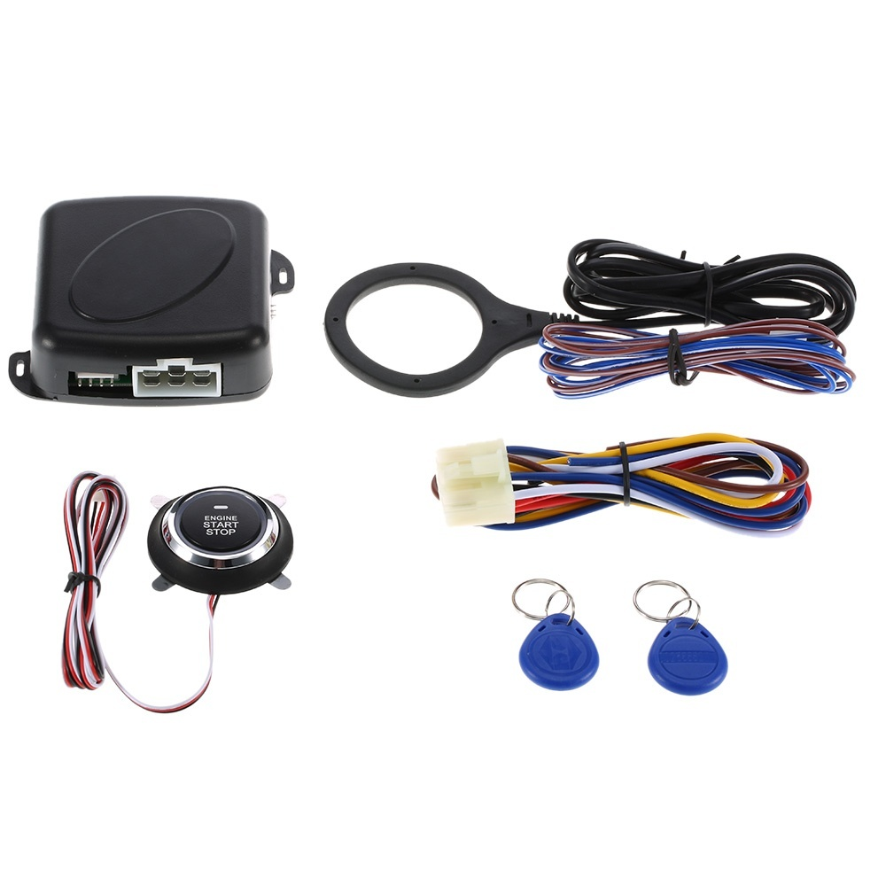 Inventive Car Engine Push Start Button Rfid Engine Lock Ignition Keyless Entry System Go Push Button Engine Start Stop Immobilizer To Rank First Among Similar Products