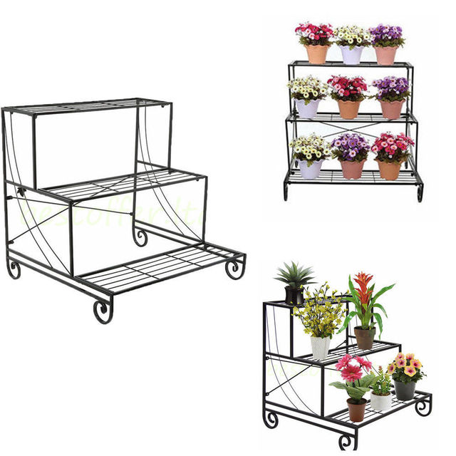 faroot 3 TIER Metal Versatile Indoor Flower Pot Stand