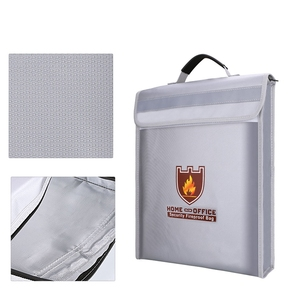 Image 4 - Bolsa portadocumentos a prueba de fuego, bolsa de seguridad para el hogar y la Oficina, resistente al fuego, carpeta de archivos, bolsa de almacenamiento segura
