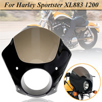 XL883 1200 Motorcycle Headlight Fairing Dome For Harley Motocross Sportster w/ Headlight Fairing Trigger Lock Mounting