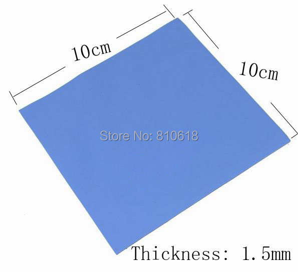 100mm  x 100mm x 1.5mm GPU CPU Heatsink Cooler Thermal Conductive Silicone Pad