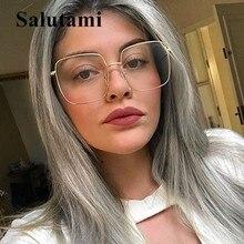 Anti-blue Light Alloy Square Frame Eyeglasses Women Brand Clear Glasses Myopia Men Reading