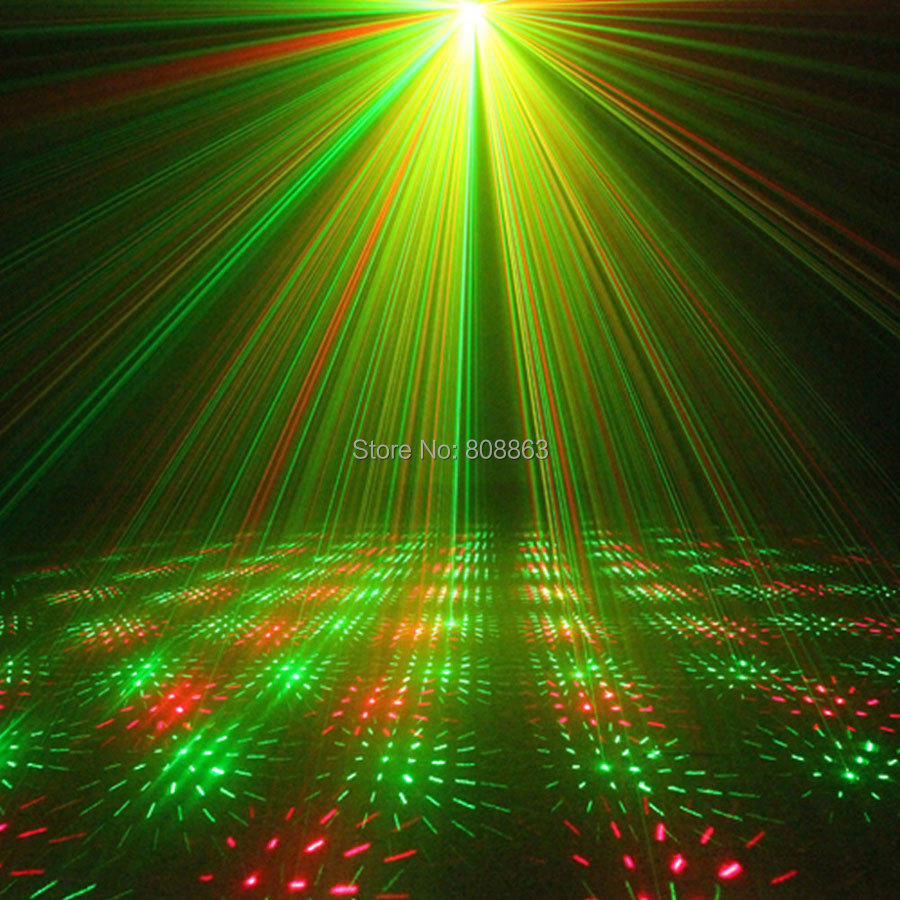 ESHINY Mini 4in1 Pattern Effect R&G Audio Star Whirlwind Laser Projector Stage Disco DJ Club Bar KTV Family Party Light Show P14 5