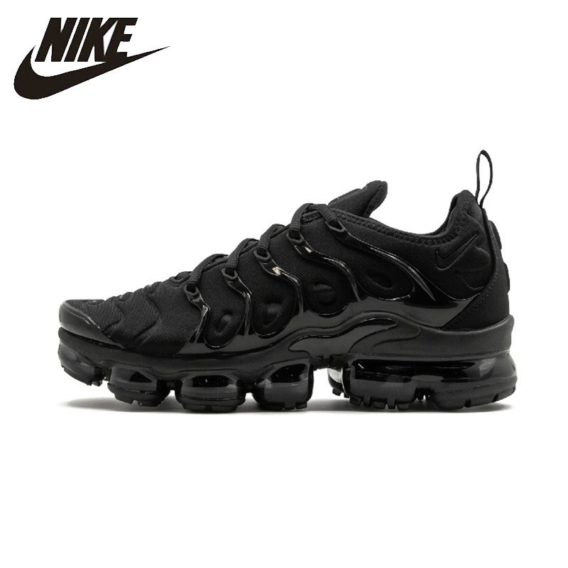 Nike Official Air Vapor Max Plus Woman Running Shoes Breathable Outdoor Sports Sneakers Anti-slip 924453-004