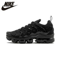 Nike Official Air Vapor Max Plus Woman Running Shoes Breathable Outdoor Sports Sneakers Anti slip 924453 004