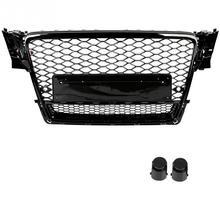 Спереди Спорт Шестигранная сетка соты капот Гриль черный для Audi A4/S4 B8 2009 2010 2011 2012 черный для RS4 Quattro Стиль стайлинга автомобилей