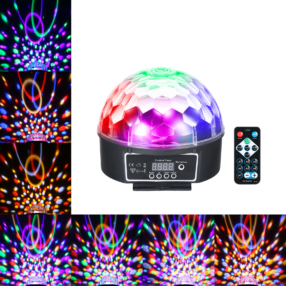 Lights & Lighting Disco Ball Dmx512 Auto-running Ac85-240v 18w 9 Led Rgbw Magic Ball Stage Light Lighting Fixture For Party Dj Show Bar Rapid Heat Dissipation