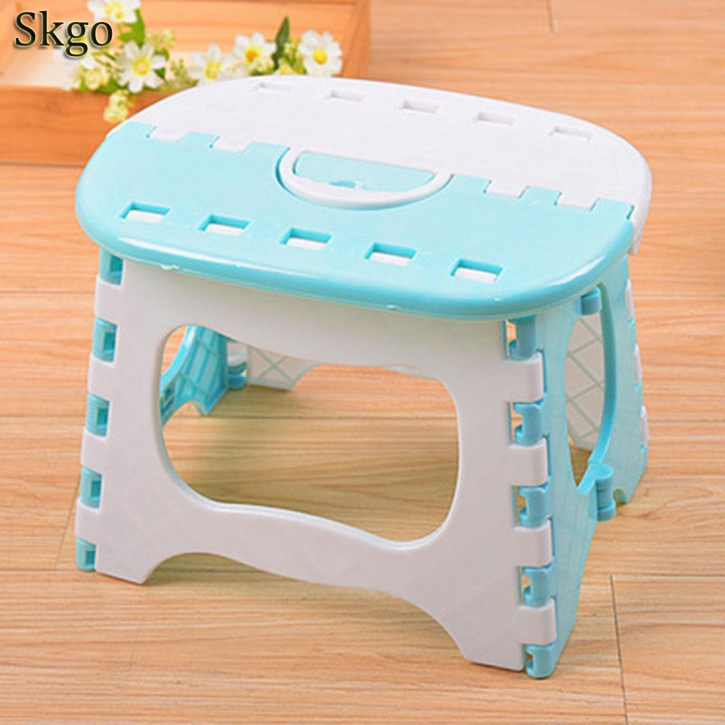 New Creative Small Home Living Room Study Bedroom Low Mini Folding Stool Pink, Blue BenchNew Creative Small Home Living Room Study Bedroom Low Mini Folding Stool Pink, Blue Bench