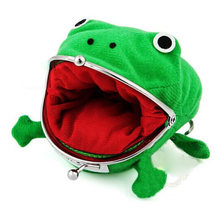 New 2019 Women Hot Selling Frog Wallet Anime Cartoon Wallet Purse Manga Flannel Wallets Cute Purse Naruto Coin Holders Hasp(China)