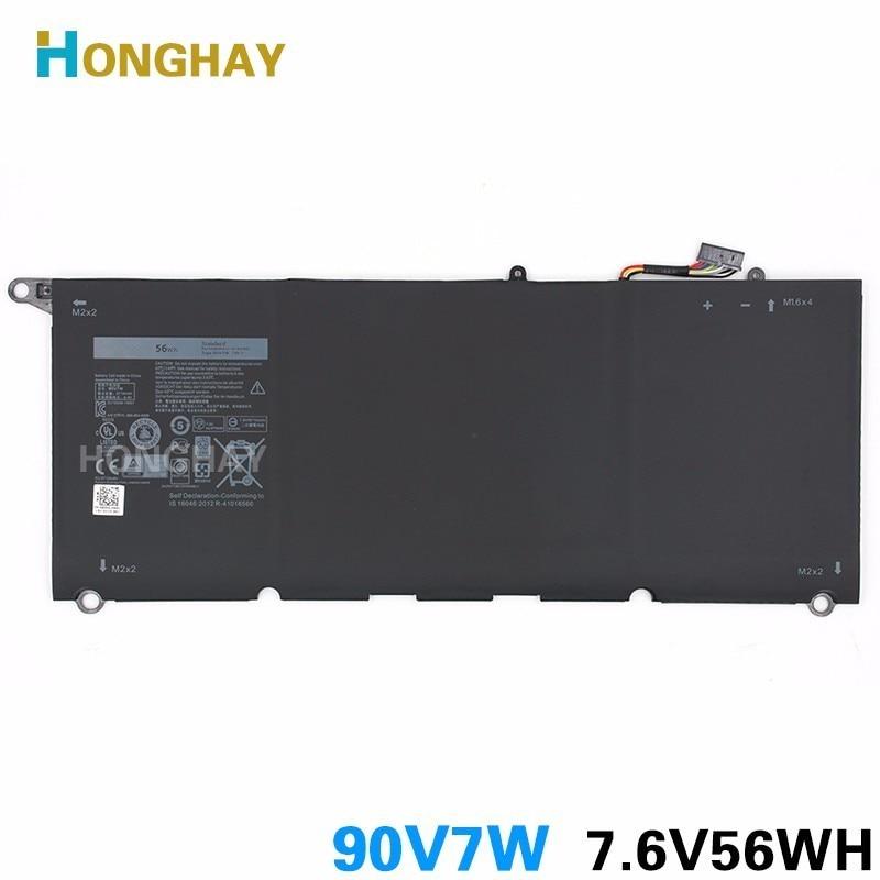 HONGHAY 90V7W Laptop Battery For Dell XPS13-9343 XPS13 9350  JD25G DIN02 P54G 7.6V 56Wh