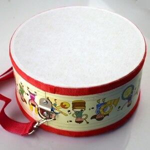 Image 3 - Tambor de madeira crianças cedo educacional instrumento musical para crianças brinquedos do bebê bater instrumento mão tambor brinquedos