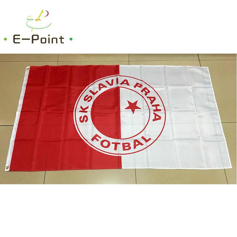 Repubblica ceca SK Slavia Praha Fotbal 3ft * 5ft (90*150 cm) formato Di Natale Decorazioni per la Casa Bandiera Banner Regali