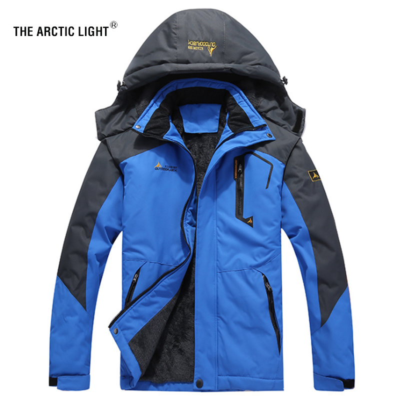THE ARCTIC LIGHT 30 Degree Super Warm Winter Ski Jacket Men Waterproof Breathable Snowboard Snow Jacket