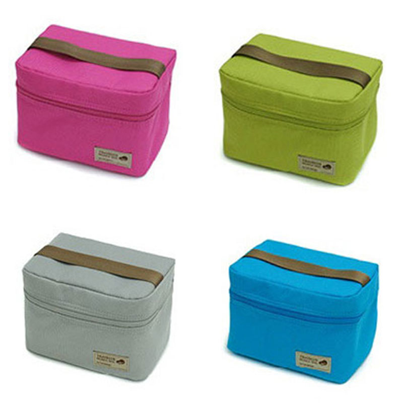 New Portable Thermal Insulated Warm Lunch Bags For Girls Women Cooler Food Picnic Supplies Bento Pouch Container School Storage