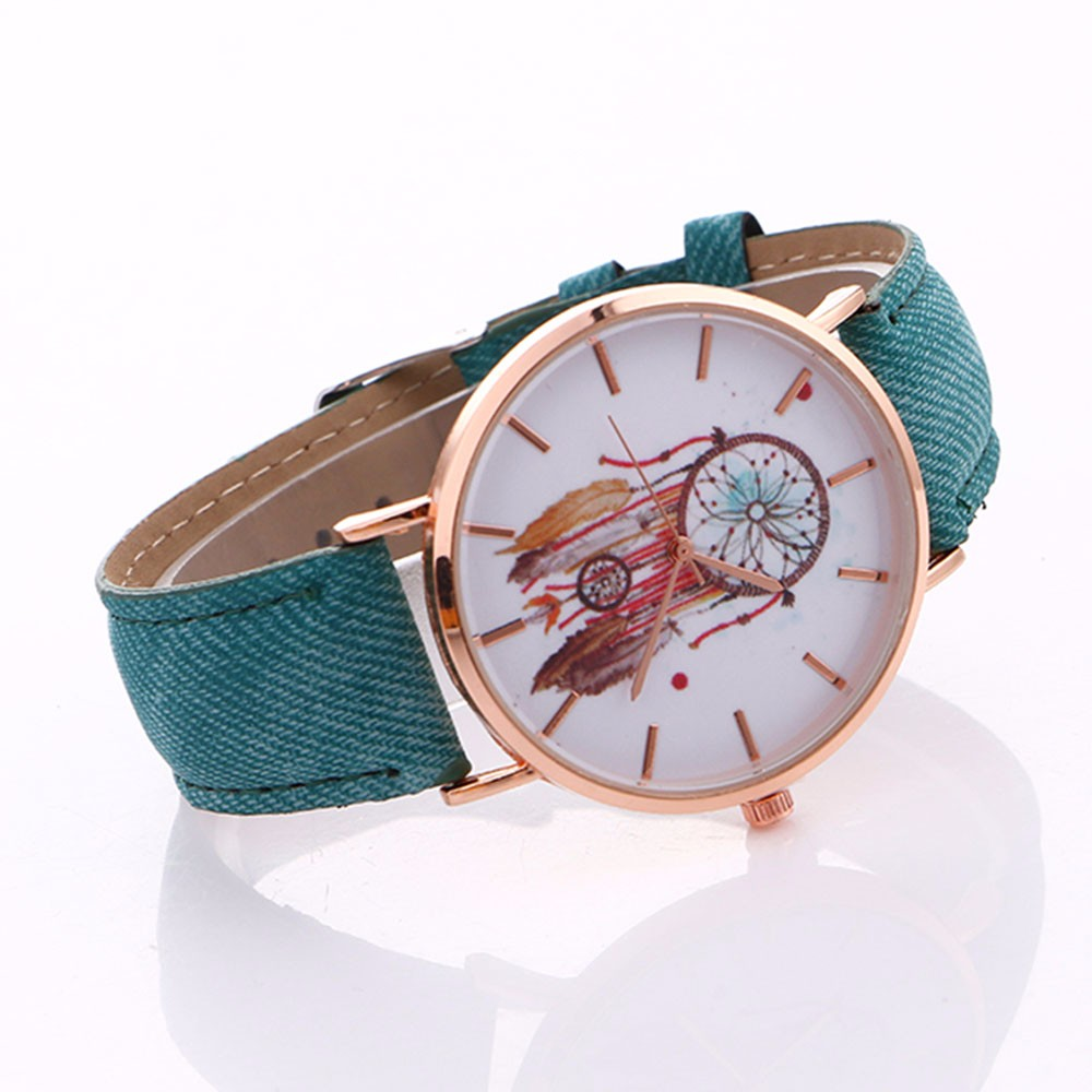 NEW Dreamcatcher Watch Women Retro Cowboy Leather Quartz Wrist Watches Women's Casual Sports Clock Watch Relogio Feminino #LH 1