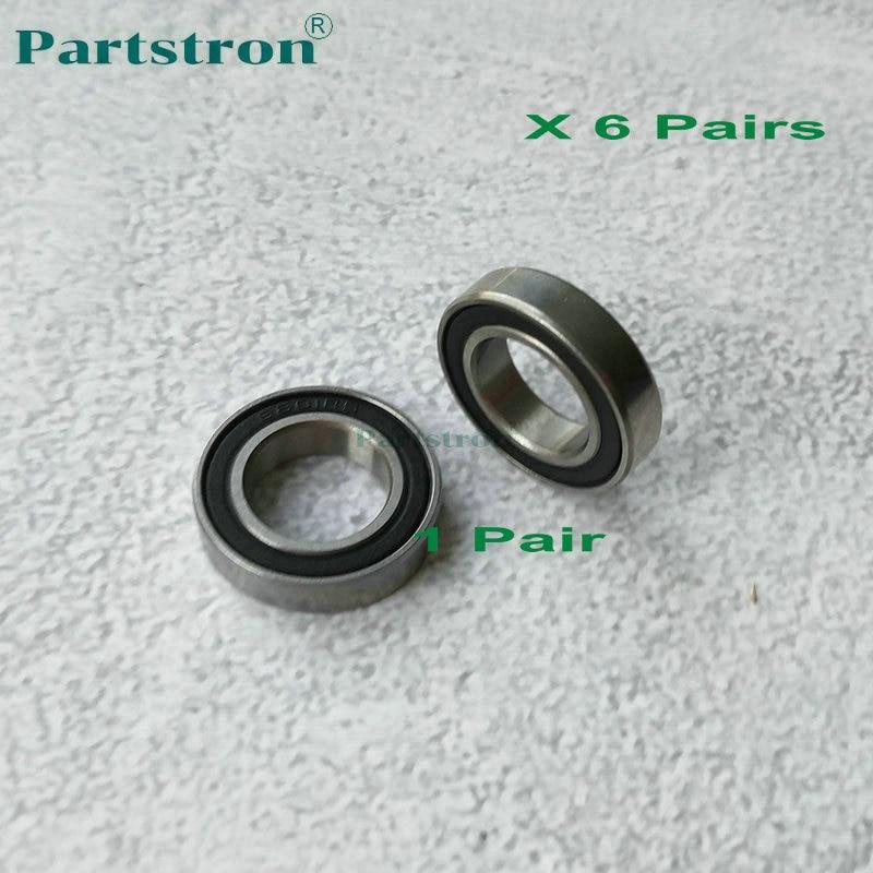 6 pares desenvolver rolamento b065 3080 para uso em aficio 1060 1075 2051 2060 2075 5500