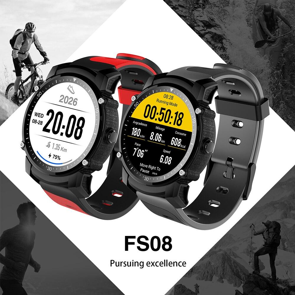 FS08 Bluetooth gps Smart Watch IP68 Водонепроницаемый Плавание Спортивные наручные часы фитнес трекер секундомер сердечного ритма мониторы SmartWatch