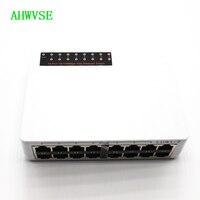AHWVSE IEEE802.3af 10/100 Мбит/с POE коммутатор 16ch Мощность Over Ethernet 14 + 2 Порты и разъёмы для IP Камера POE сетевой переключатель с 48 V/3A Мощность
