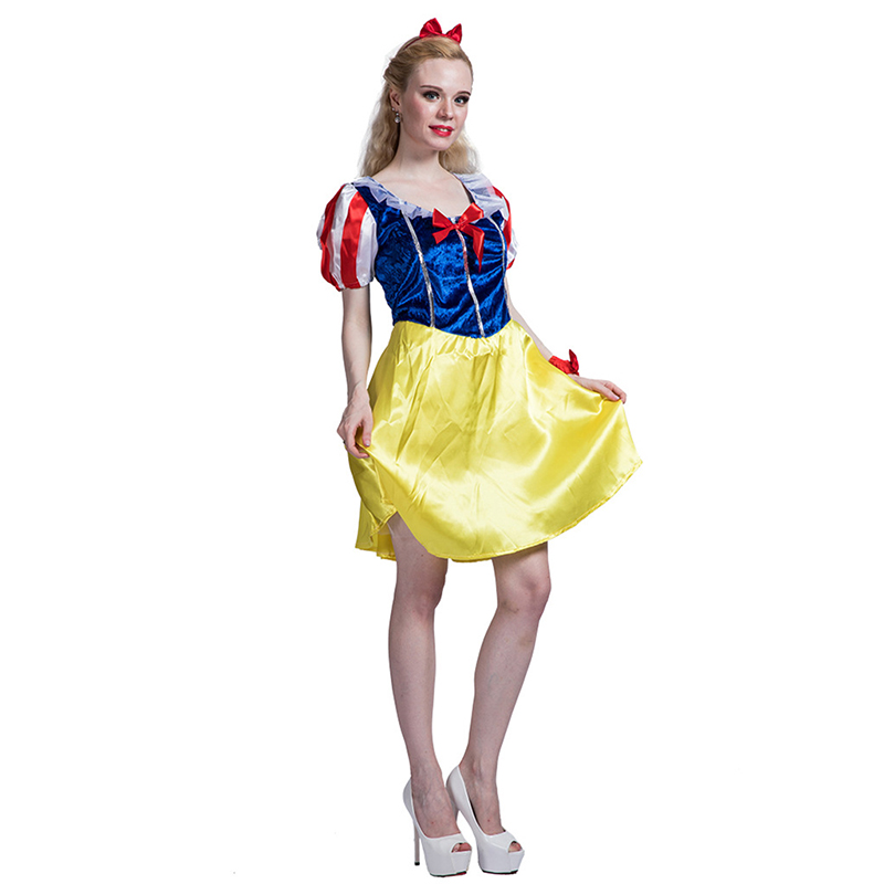 Snow White Adult Costume Woman Princess Dress For Halloween Cosplay Party
