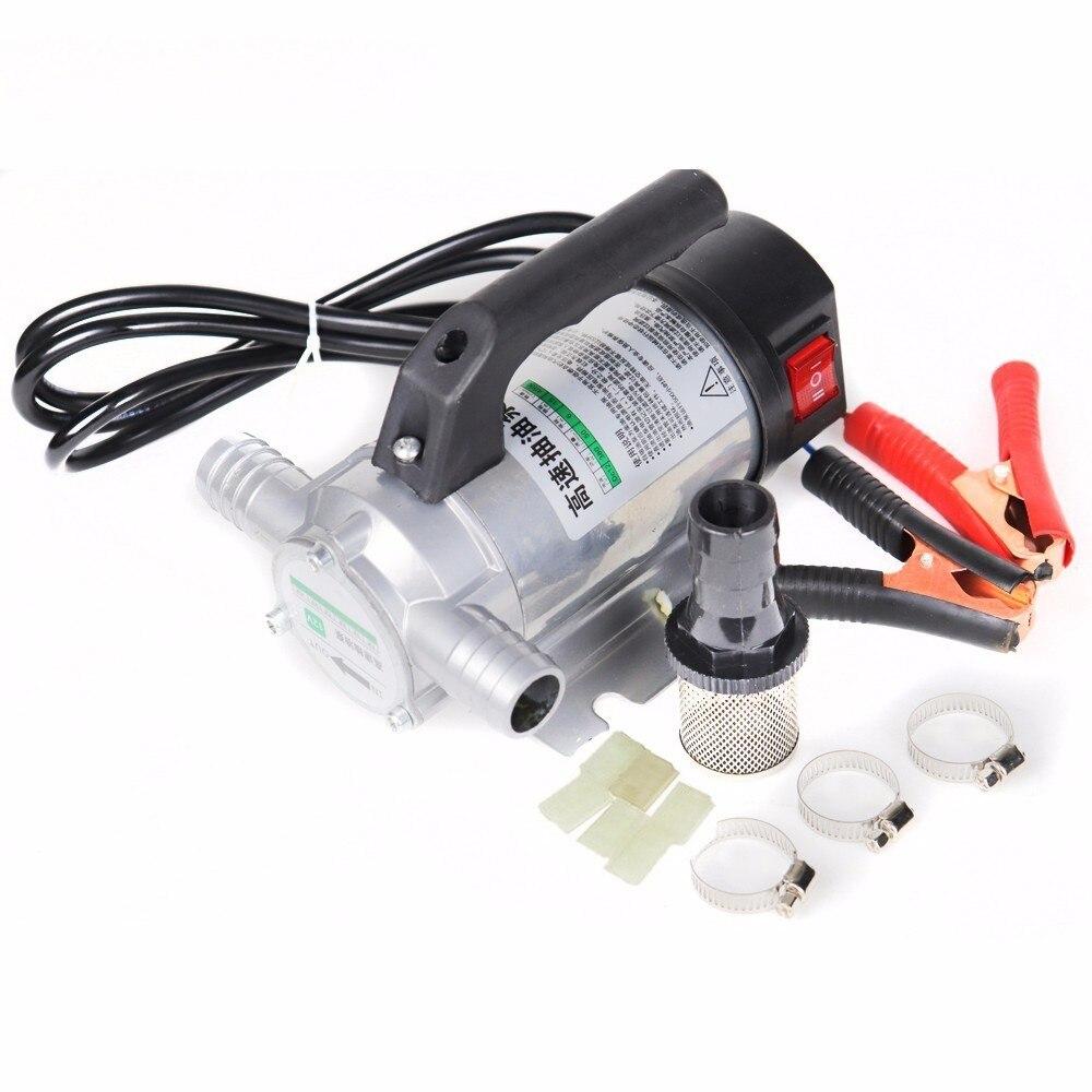 50l/min 12 v/24 v/220 v petite pompe de ravitaillement automatique 12 V pompe de transfert de carburant automatique électrique pour pomper l'huile/diesel/kérosène/eau - 2