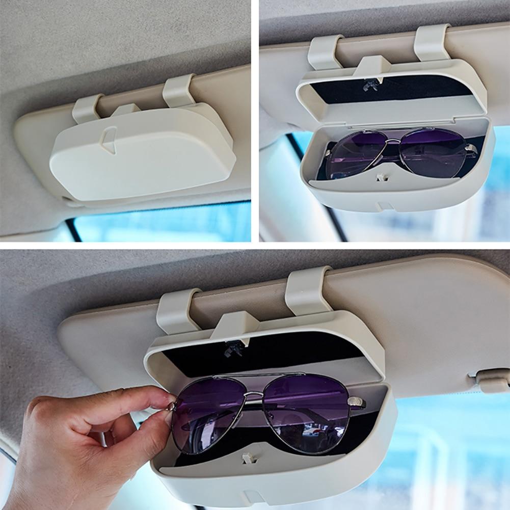 Storage-Box-Holder Organizer Glasses Case Visor Sunshade Auto-Accessories Pockets