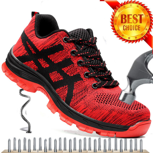 Plus Size 35-46 Werkschoenen Mannen Veiligheid Schoenen Unisex Air Mesh Werkschoenen Mannen Laarzen Hoge Kwaliteit Staal neus Veiligheid Laarzen Mannelijke
