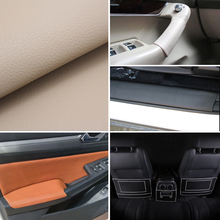 Car Steering Wheel Door Handle Armrest Dashboard Panel Seat Whole Piece Microfiber Leather Protective Cover 1.38*0.5M