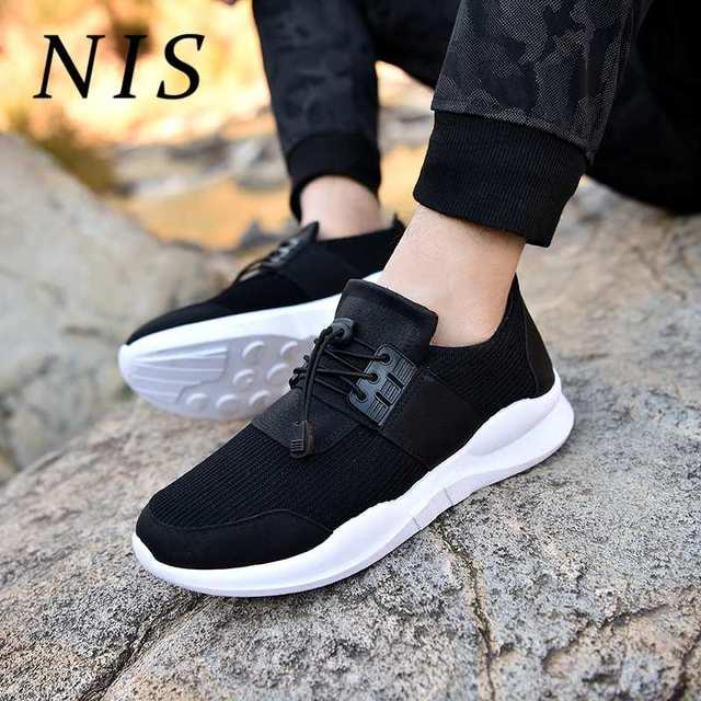 NIS/большие размеры; мужские вулканизированные туфли на платформе; эластичный блокировочный трос; обувь с пряжкой; мужские кроссовки с низки...