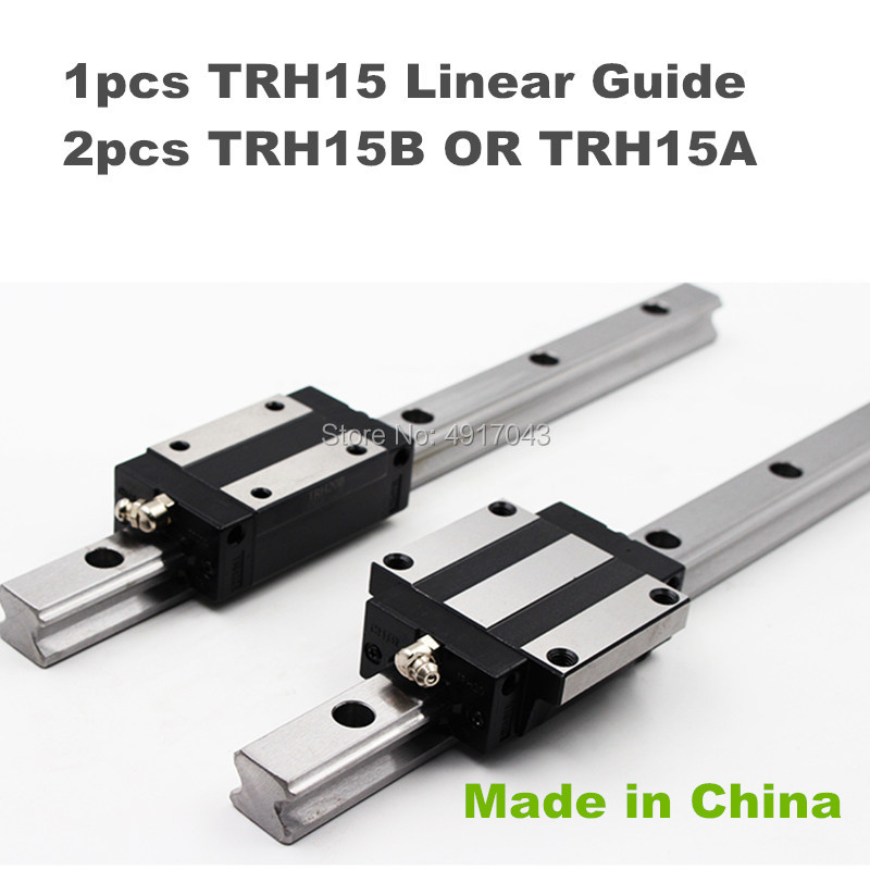 1pc 15mm width linear guide rail TRH15 1100 to 1500 mm +2pcs TRH15B or TRH15A carriages Slider Block Square block for CNC parts1pc 15mm width linear guide rail TRH15 1100 to 1500 mm +2pcs TRH15B or TRH15A carriages Slider Block Square block for CNC parts