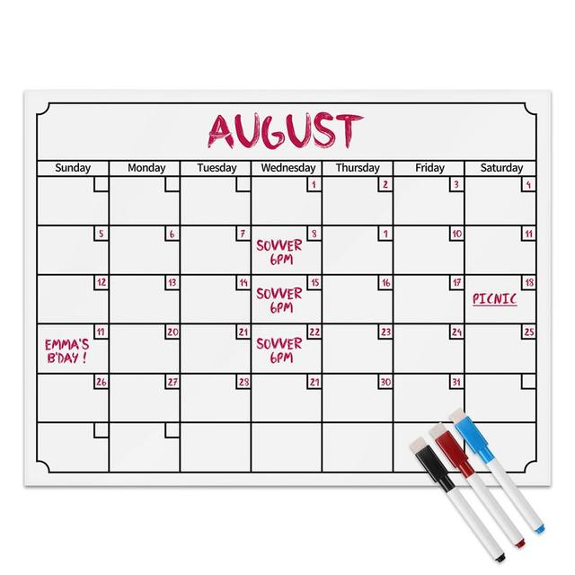 Magnetic Dry Erase Refrigerator Calendar Week Monthly White Board