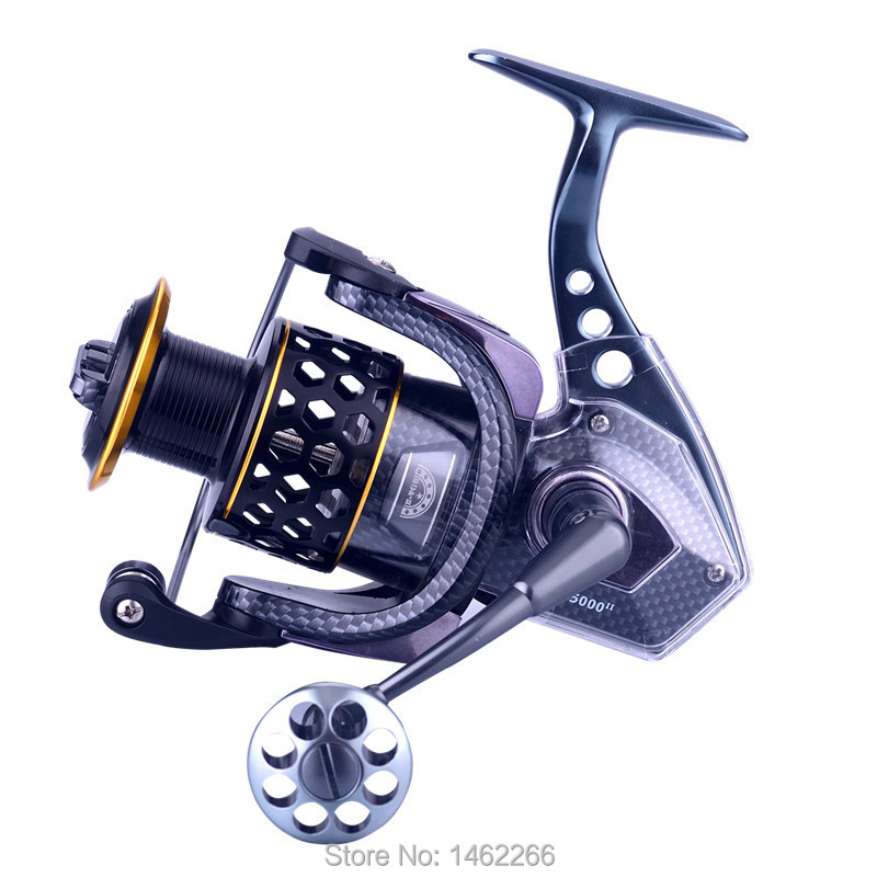 WOEN ASII7000 All metal fishing reel 15+2BB parallel Seawater prevention Spinning wheel Braking force 15 kg Fishing gear-in Fishing Reels from Sports & Entertainment